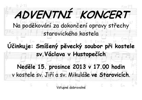 Adventní koncert Starovice