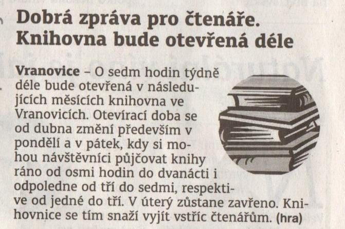 Břeclavský deník, o knihovně