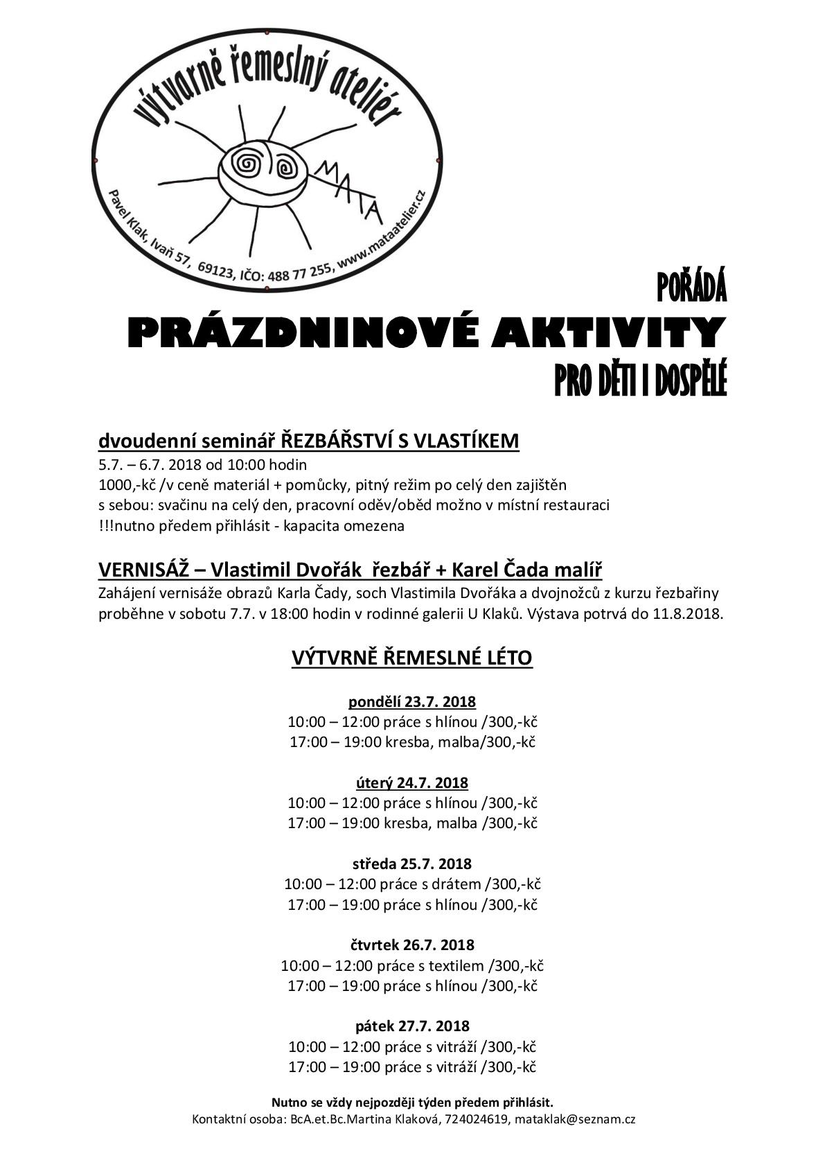 PRÁZDNINOVÉ AKTIVITY 2018-001