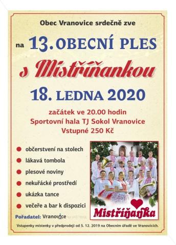 VranovicePles2020sMistrinankou_Plakat